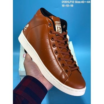 KUYOU A315 Adidas Neighbor hood High-top leather pirate running shoes Brown