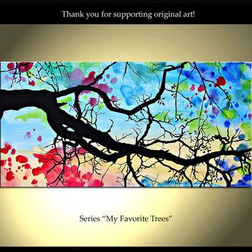 """Saatchi Online Artist: Isao Auer; Acrylic, 2012, Painting """"My favorite Trees - Etsy - ColorinaArt"""""""