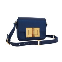Tom Ford Day Medium Natalia Day Bag Shoulder Bag Blue Leather L0820T