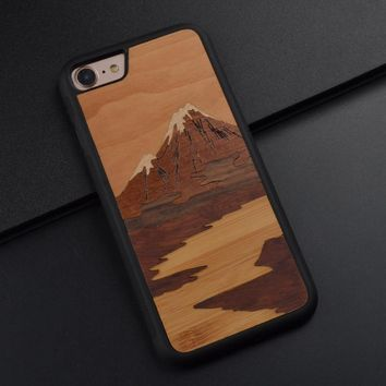 Fuji Mountain Mobile Phone Case For Iphone X 8 6S 7 Plus Beautiful Phone Accessories For Huawei P10 Plus