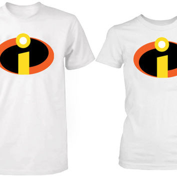 the incredible cool logo tshirt couple ----- size S,M,L,XL,2L,3XL