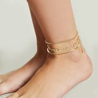 Assorted Chain Anklet Set