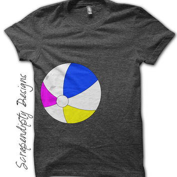 Beach Ball Iron on Transfer - Iron on Summer Shirt PDF / Kids Boys Beachball Shirt / Toddler Boys Clothing / Baby Boys Summer Clothes IT128