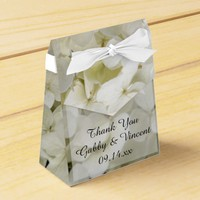 White Hydrangea Floral Wedding Favor Box