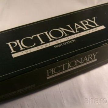 Pictionary The Game of Quick Draw First Edition 1985 Family Board Game Vintage
