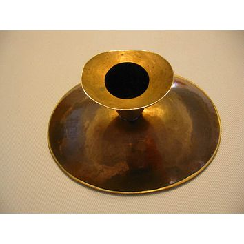 Copper Chamber Candle Holder Hand Crafted Hammered Style