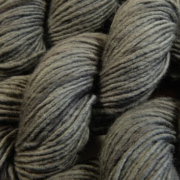 Hand Dyed Yarn - Chunky Weight Wool/Alpaca Yarn - Slate Grey Tonal - Knitting Yarn, Bulky Yarn, Wool Yarn, Charcoal Grey Gray