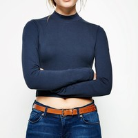 BOATWRIGHT HIGH NECK CROP TOP