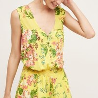 Plenty by Tracy Reese Annisa Romper in Yellow Size: