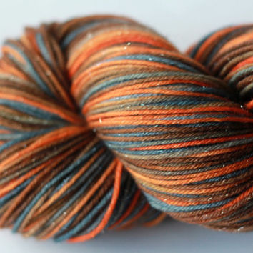 Autumn Night - Sparkle Fingering/Sock Hand-Painted Yarn - 463 yds / 100g