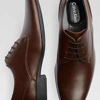 Calvin Klein Brodie Brown Oxfords - Dress Shoes | Men's Wearhouse