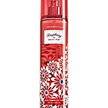 Bath and Body Works Fine Fragrance Mist Spray Raspberry and Sweet Mint 8 Ounce