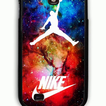Samsung Galaxy S4 Case - Rubber (TPU) Cover with air jordan nike nebula Rubber Case Design