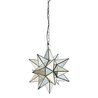 Worlds Away Star Antique Mirror Chandelier