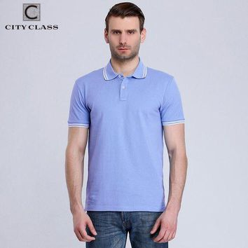 ESBON CITY CLASS New Mens Cotton Polo Shirt Brand Clothing Business Casual Solid Male Short Sleeve breathable polo shirt 2439