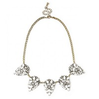 Sole Society Crystal Cluster Statement Necklace