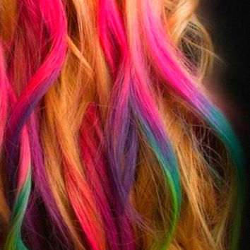Set of 24 - Colored Hair Chalk - Premium Salon Grade - Temporary Color Pastels