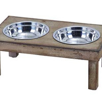 Classic Style Handmade Pet Feeder Food Bowl