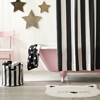 The Emily & Meritt Awning Stripe Shower Curtain