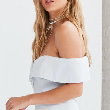 Bardot Luna Off-The-Shoulder Midi Dress | Urban Outfitters
