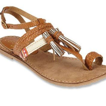 DCCKAB3 Matisse Chico Tan Leather Sandals