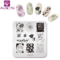 KADS Charming Rose Nail Art Stamp Template Image Plate Nail Stamping Plate Flower Stencil Nails Tool