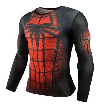 Superheroes Suit Compression Long Sleeve Shirts #spiderman