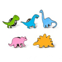 Colorful Cartoon Dino Enamel Pin