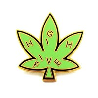 High Five Pot Leaf Pin