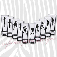 Sailor Moon Sailor Scouts Shot Glasses - Your Choice of Color