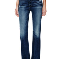 7 for All Mankind Women's Distressed Vintage Bootcut Jean - Blue -