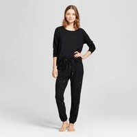 Women's Thermal Pajama Set - Xhilaration™ Black