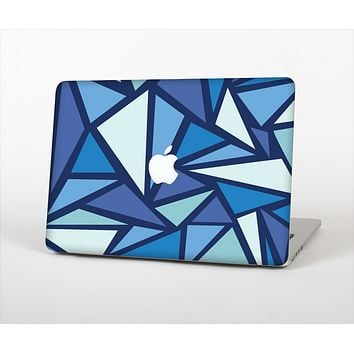 The Large Vector Shards of Blue Skin Set for the Apple MacBook Air 13""