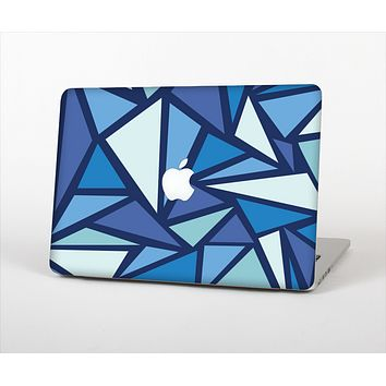 The Large Vector Shards of Blue Skin Set for the Apple MacBook Pro 15""
