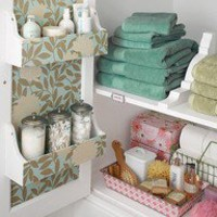 bathroom cabinet storage, great for lotions!
