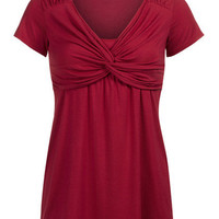 Contemporary Knot Nursing Top