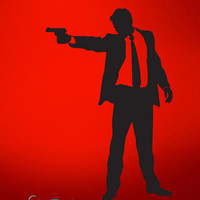 Vinyl Wall Decal Sticker Action Men Shooting #764