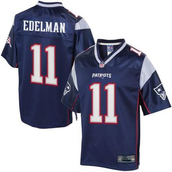 NFL Pro Line Mens New England Patriots Julian Edelman Big & Tall Team Color Jersey