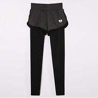 Women Pro Sports Run Tight + Shorts Gym Pant Yoga Exercise Fitness Legging Workout Train For Slim Compress Bodybuilding Clothing