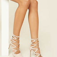 Strappy Lace-Up Stilettos