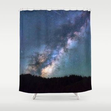 Milky Way Shower Curtain by Gallery One