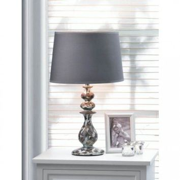 Revamp Ceramic Base Table Lamp w/ Rich Fabric Shade
