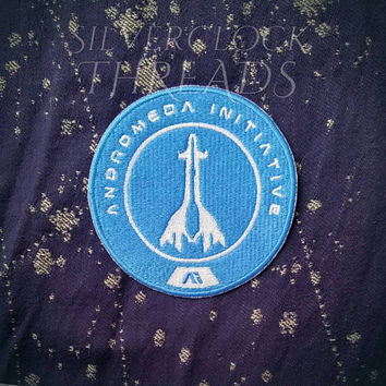 Sew-on patch - Mass Effect Andromeda Initiative full logo inspired embroidery -  10 cm / 4 in - costume and cosplay prop
