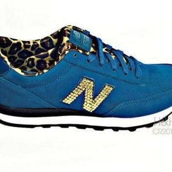 ICIKGQ8 new balance quot 501 quot sneaker with hand placed swarovski crystal detail on outside logo 39 s
