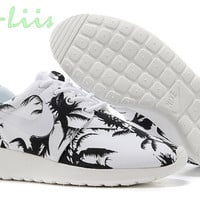 SALE -30% Custom Nike Roshe Run athletic running shoes with palm print