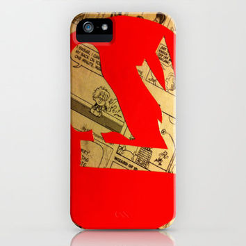 Red Bird Comic iPhone & iPod Case by Rhiannon