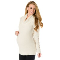 Oh Baby by Motherhood Textured Cowlneck Tunic Sweater