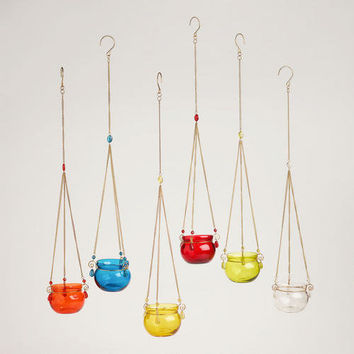 Glass Bead Tealight Candleholders, Set of 6 - World Market