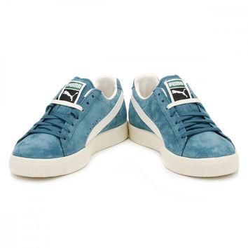 PUMA Mens Harbour Blue Clyde Trainers