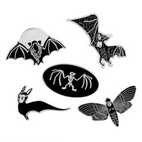 Bats Moths or Skeletons Pins
